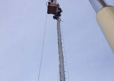 Sandel Cranes Cell Tower Work