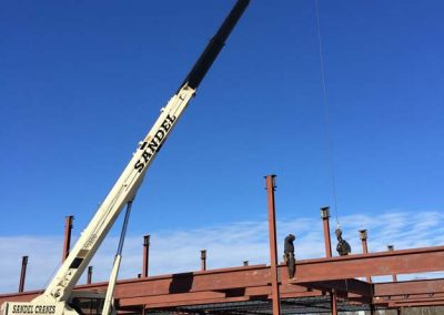 Sandel Cranes Steel Erection